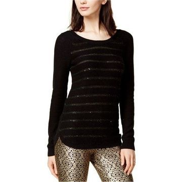 maison Jules Womens Sequined Knit Sweater