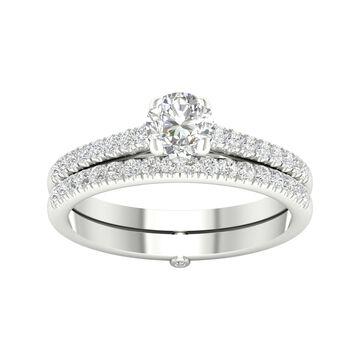 De Couer 5/8ct TDW Diamond Bridal Set - White