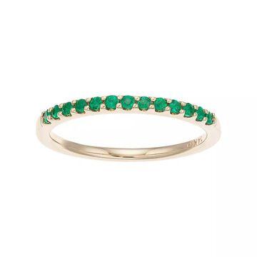 Boston Bay Diamonds 14k Gold Emerald Stack Ring, Women's, Size: 8, Green