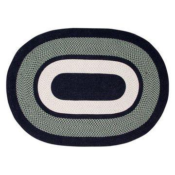 Better Trends Portland Wool Braid Rug, Green, 40