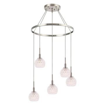 Woodbridge Lighting Elise Chandelier, Clear Crystal Ball
