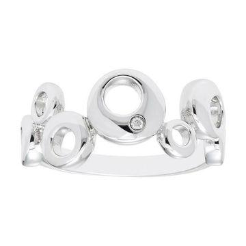 Boston Bay Diamonds Sterling Silver Diamond Accent Bubble Ring