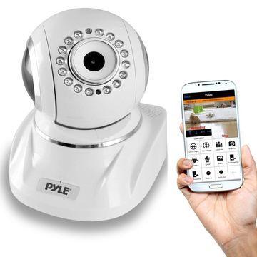 Pyle Indoor Wireless IP Camera - HD 1080p Network Security Surveillance Home ...