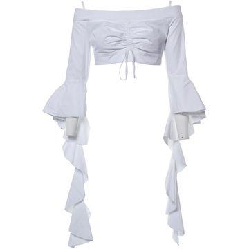 Ellery \N White Cotton Tops