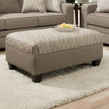 Simmons Seguin Pewter Cocktail Ottoman
