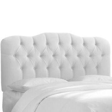 Skyline Furniture Cranford Velvet Full Headboard in White