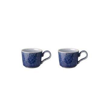 Denby Studio Blue Brew Espresso Cup Set of 2