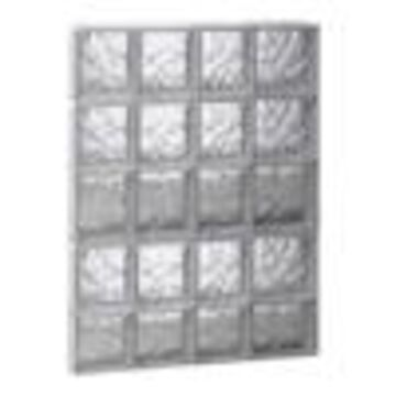 REDI2SET Wavy Glass Pattern Frameless Replacement Glass Clear Block Window (Rough Opening: 26-in x 38-in; Actual: 25-in x 36.75-in)
