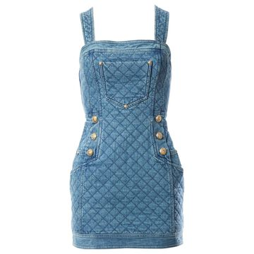 Balmain Blue Cotton Dresses
