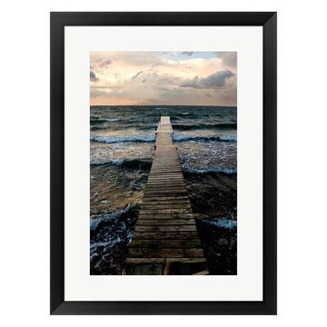 Metaverse Art Walk On Water Framed Wall Art