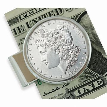 American Coin Treasures Sterling Silver Morgan Dollar Moneyclip