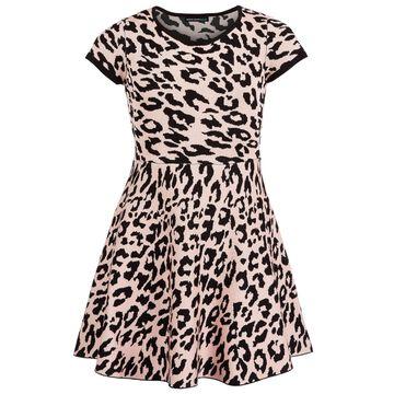 Big Girls Cheetah-Print Dress
