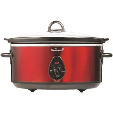 Brentwood - 6.5-Quart Slow Cooker - Red