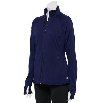 Women's Tek Gear Performance Zip-Front Jacket, Size: Large, Dark Blue