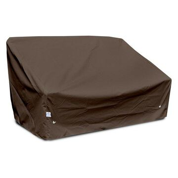 Deep 2-Seat Sofa Cover Large, Chocolate