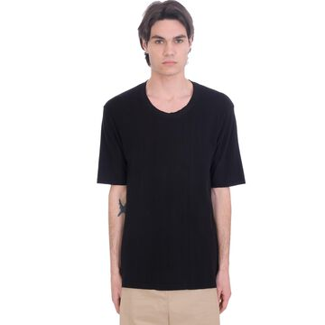 Laneus T-shirt In Black Cotton