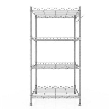 """Whitmor Supreme 4 Tier Shelving with Adjustable Shelves and Leveling Feet - Black - 14"""" x 36"""" x 54"""""""