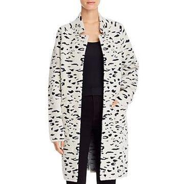 Bardot Leopard Jacquard Sweater Coat