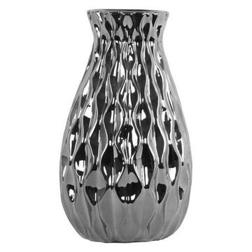 Ceramic Vase, Polished Chrome Silver, Small