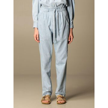 Isabel Marant Etoile cotton trousers with belt