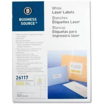 Business Source Bright White Premium-quality Shipping Labels (White)