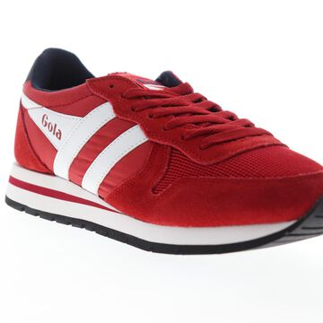 Gola Daytona Mens Red Mesh Suede Lace Up Low Top Sneakers Shoes