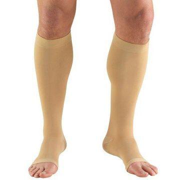 Truform Stockings, Knee High, Open Toe: 30-40 mmHg, Beige, Medium