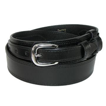 CTM Men's Leather Removable Buckle Ranger Belt