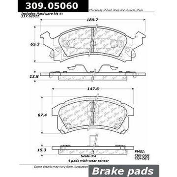 StopTech 309.05060 StopTech Sport Brake Pads;
