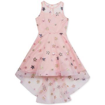 Big Girls Embroidered Stars Dress