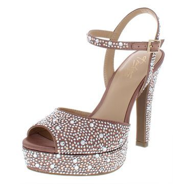 Thalia Sodi Womens Bridget Satin Platform Dress Sandals