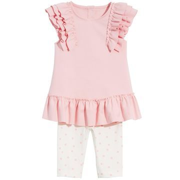 Baby Girls 2-Pc. Ruffle Tunic & Leggings Set, Created for Macy's