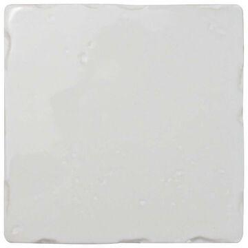 SomerTile 5.125x5.125-inch Novecento Square Blanco Viejo Ceramic Wall Tile