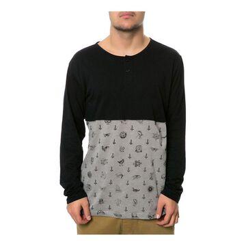 RVCA Mens The Benjamin LS Henley Shirt