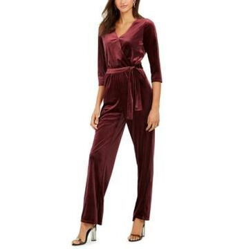 Ny Collection Petite Belted Jumpsuit