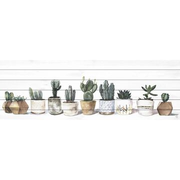 Marmont Hill - Handmade Cacti and Earth Tones Painting Print on White Wood