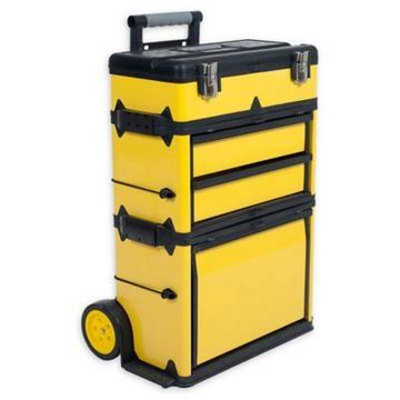 Stalwart Portable Metal Trolley Tool Chest in Yellow