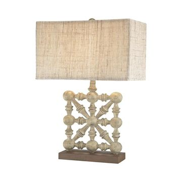 Dimond Lighting Biscay Burnt Copper Castlebawn Stone Table Lamp