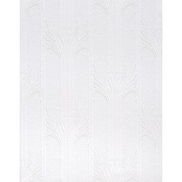 Brewster Anaglypta x 57-sq ft Paintable Vinyl Paintable Ivy/Vines Unpasted Wallpaper in White   437-RD803
