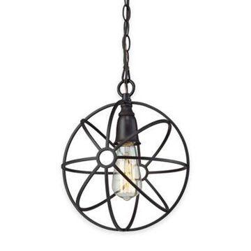 Elk Lighting Yardley 1-Light Globe Pendant Light In Oil-Rubbed Bronze Oil Rubbed Bronze