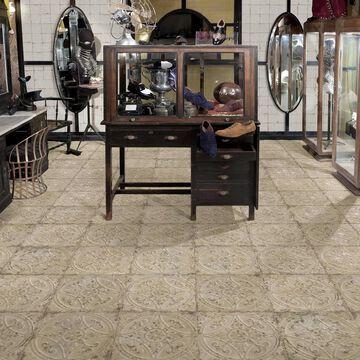 "SomerTile Saja Blanco 13"" x 13"" Ceramic Floor and Wall Tile"