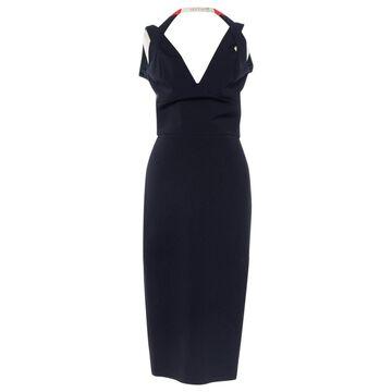 Victoria Beckham Navy Viscose Dresses