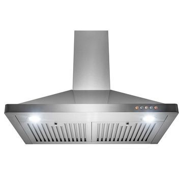 Golden Vantage 30 in Wall Mount Kitchen Range Hood 3 Speed Push Control