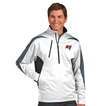 Men's Antigua White Tampa Bay Buccaneers Discover Desert Dry Xtra-Lite Half-Zip Jacket