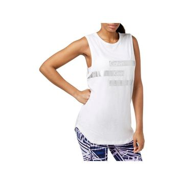Calvin Klein Performance Womens Tank Top Fitness Yoga