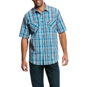 Ariat Rebar Woven Workman Plaid Shirt - Short Sleeve (For Men)