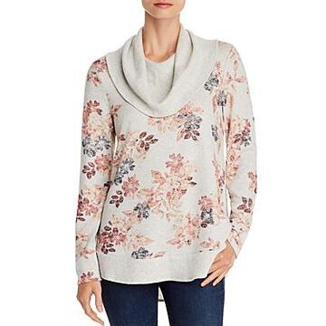 Cupio Floral-Print Cowl-Neck Sweater