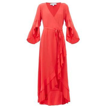 Melissa Odabash - Cheryl Ruffled Wrap Dress - Womens - Red