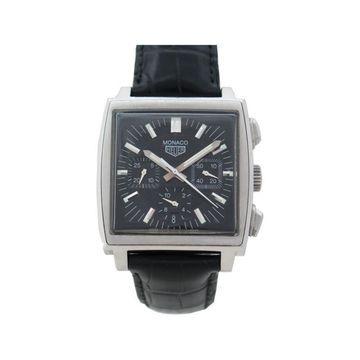 Tag Heuer Monaco Black Steel Watches