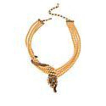 "Heidi Daus ""Feline Wrapture"" Crystal Multi-Strand Beaded Necklace"